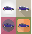transport flat icons 01 vector image