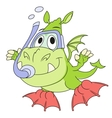 Little dragon is diving 2 vector image