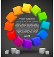 Colored cubes 3D vector image vector image