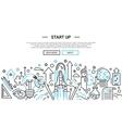Start Up - line design website banner temlate vector image