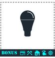 Bulb icon flat vector image