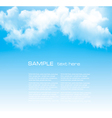 Background with a cloudy blue sky vector image vector image