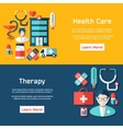 Medical brochure template for web or print vector image