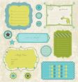 baby scrapbook elements vector image