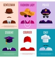 Mini Posters With Hats Caps vector image