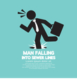 Businessman Falling Into Sewer Lines vector image