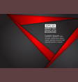 abstract geometric black and red color technology vector image