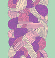 Abstract seamless hand-drawn border vector image