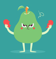 Angry Pear Tearing a Heart Apart vector image