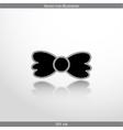 bow tie web flat icon vector image