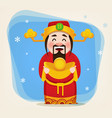 chinese god of wealth vector image