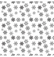 christmas snowflakes on white background seamless vector image