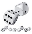 dice rolls vector image