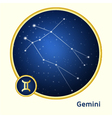 Gemini constellation vector image