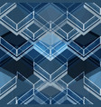 geometric blue pattern vector image
