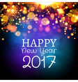 Happy New Year 2017 card poster design Invitation vector image