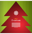 Red and Green Abstract Merry Christmas Background vector image