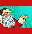 santa claus promoter vector image