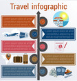 travel infographic template 5 positions vector image