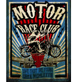 vintage motorcycle set tee graphic design vector image