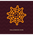 Spider web halloween silhouette icon vector image