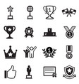 win and success icons set vector image