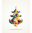 Merry Christmas contemporary pine tree greeting vector image