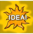 Cartoon of idea vector image
