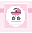 Birth Card girl vector image vector image