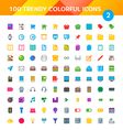 100 Universal Icons Set 2 vector image