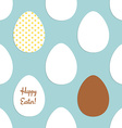 Sketch Easter eggs pattern vector image