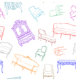 rococo furniture pattern vector image