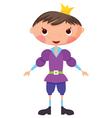 cartoon prince vector image vector image