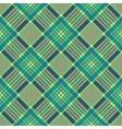 Plaid seamless tartan pattern Diagonal texture vector image