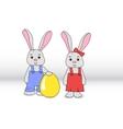 Rabbits boy and girl vector image