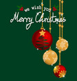 christmas baubles ball vector image