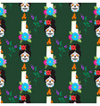 colorful seamless pattern background dia de los vector image