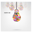 Creative light bulb background vector image