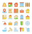 Real Estate Colored Icons 2 vector image