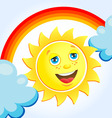 sun after rain vector image