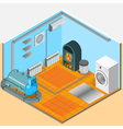 Heating Cooling System Interior Isometric Template vector image vector image