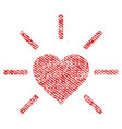 shiny love heart fabric textured icon vector image