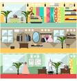 set of fashion atelier interior flat vector image