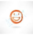 happy grunge icon vector image vector image
