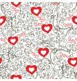 vintage hearts vector image
