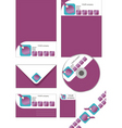 corporate stationery vector image vector image