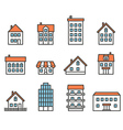 Different house silhouettes collection Design vector image