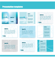 213 5 2016 presentation template vector image vector image
