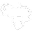 Black White Venezuela Outline Map vector image vector image