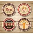 Beer Label Or Emblem Set vector image